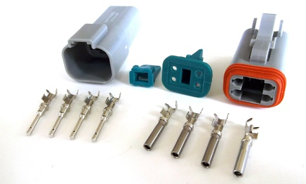 amphenol deutsch at dt type connector and terminals rh cycleterminal com wire crimp connector types electrical wire connector types