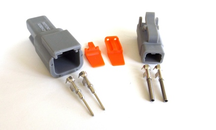 amphenol deutsch at dt type connector and terminals 2 pin sealed connector