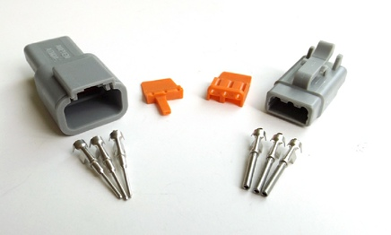 amphenol deutsch at dt type connector and terminals 3 pin sealed connector