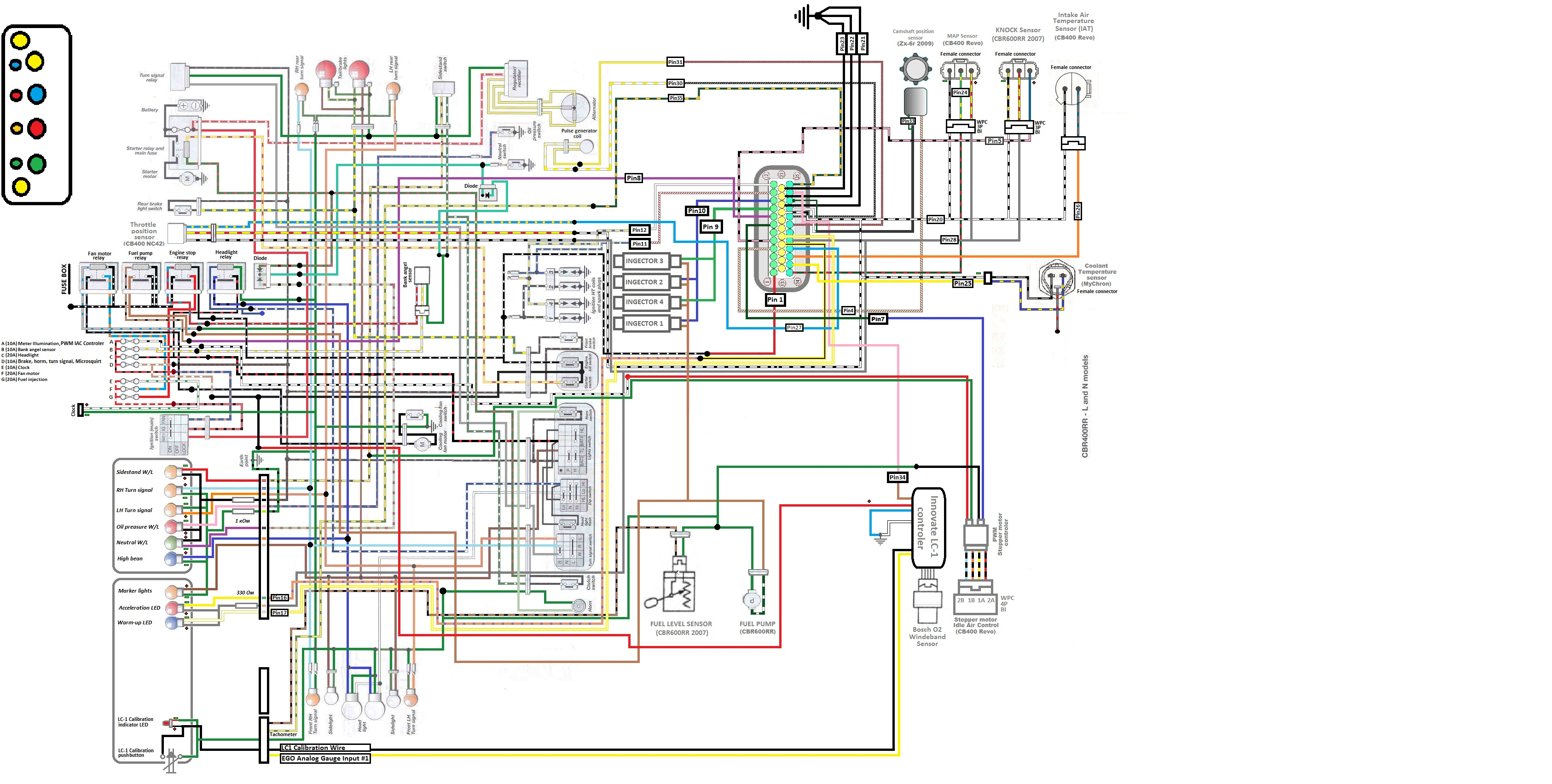 motorcycle wiring diagrams rh cycleterminal com ABS Valve Diagram 2008 Kawasaki  Ninja Wiring Diagrams