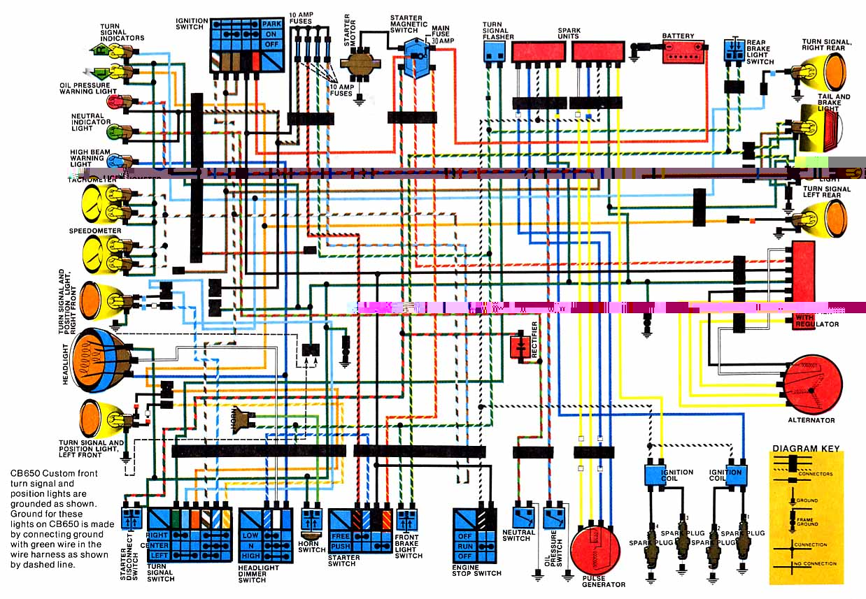 Honda CB65080 82 Wiring Diagram1 motorcycle wiring diagrams Honda Engine Wiring Diagram at alyssarenee.co