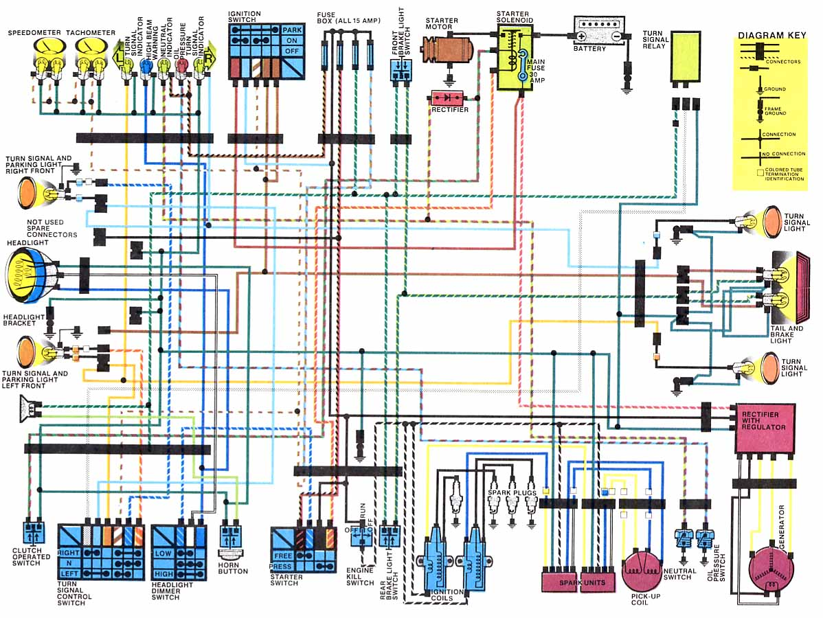 Honda CB650SC Electrical Wiring Diagram motorcycle wiring diagrams 1982 yamaha virago 750 fuse box at gsmx.co