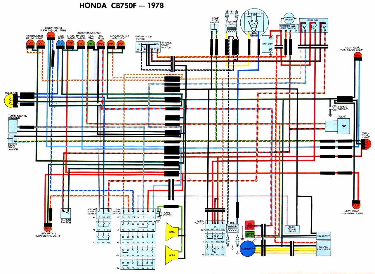 Honda CB750F78 wiring diagram motorcycle wiring diagrams Basic Electrical Schematic Diagrams at soozxer.org