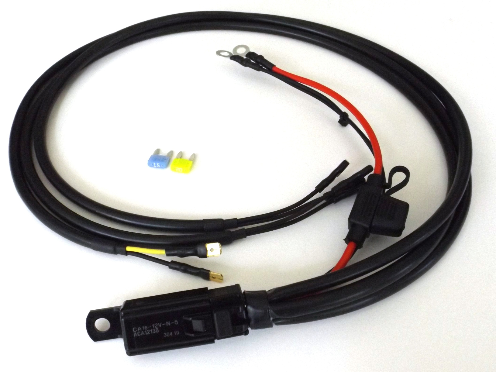 Motorcycle horn relay harness kit for dual horns motorcycle horn relay kits EZ Wiring Harness Diagram Chevy at bayanpartner.co